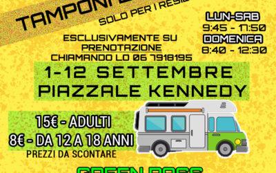 TAMPONI 20% DI SCONTO E GREEN PASS IN GIORNATA 1-12 DICEMBRE FARMACIA 2 ASP CIAMPINO PIAZZA J.F.KENNEDY