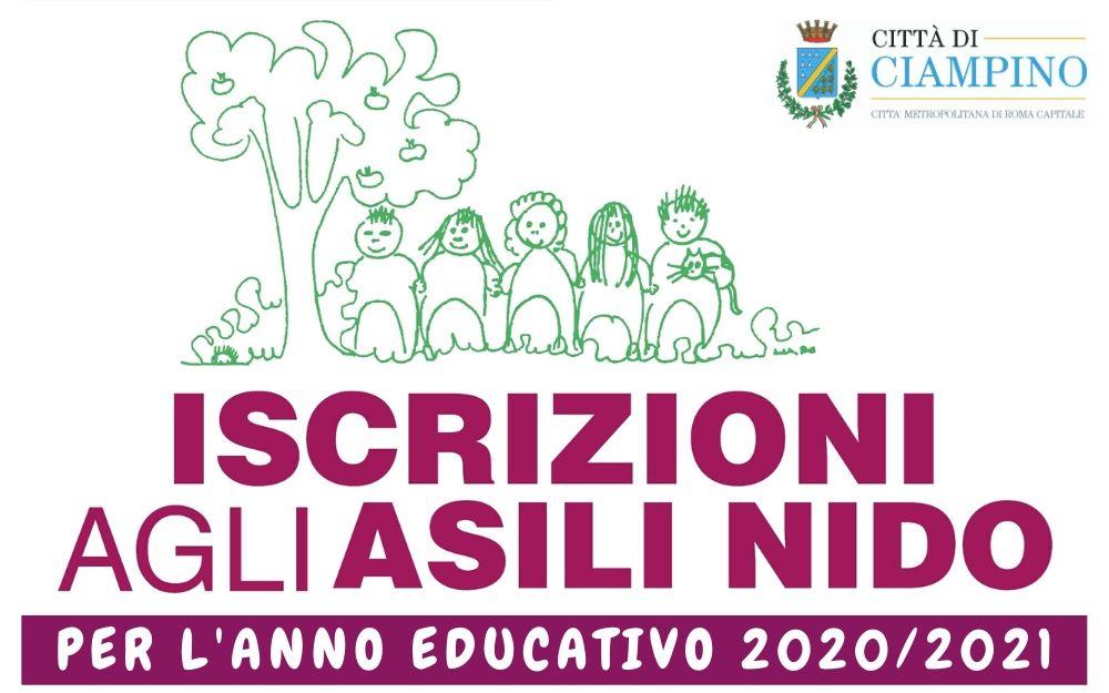APERTURA ISCRIZIONI ASILO NIDO PER L'ANNO SCOLASTICO 2020/2021