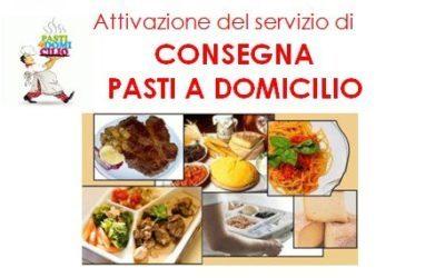 menù pasti domiciliari in vigore fino  a domenica 21 giugno 2020