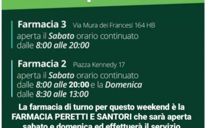 ORARIO APERTURA FARMACIE A CIAMPINO NEL WEEK-END 17-18 APRILE 2021