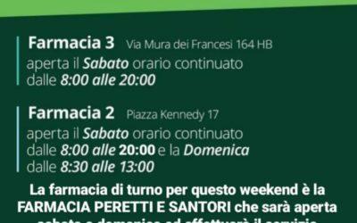 ORARIO APERTURA FARMACIE 26-27 GIUGNO 2021
