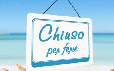CHIUSURA PER FERIE ESTIVE ASP SPA