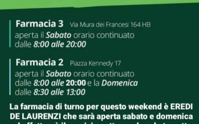 Orari farmacie Ciampino weekend 9-10 ottobre 2021